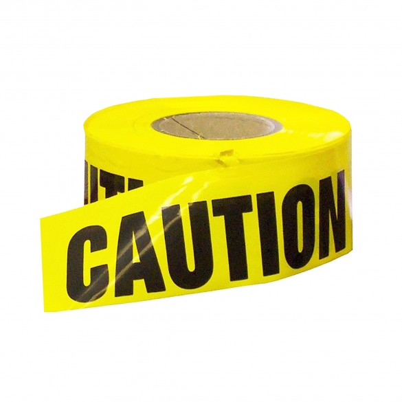 Yellow Caution Economy Caution Tape 1000' Roll 1.5 Mil Thick