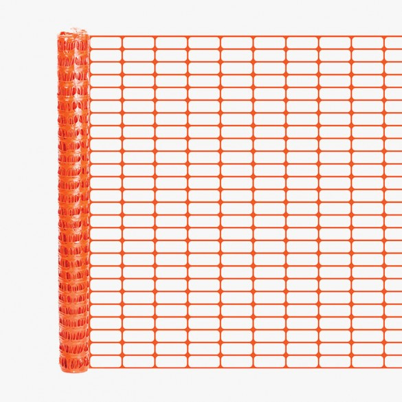 Resinet OL3548100 Oriented Barrier Fence 4' x 100' Roll - Orange