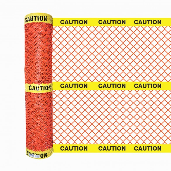 Resinet BFCT504XY Caution Barrier Fence 4' x 50' Roll (Orange)