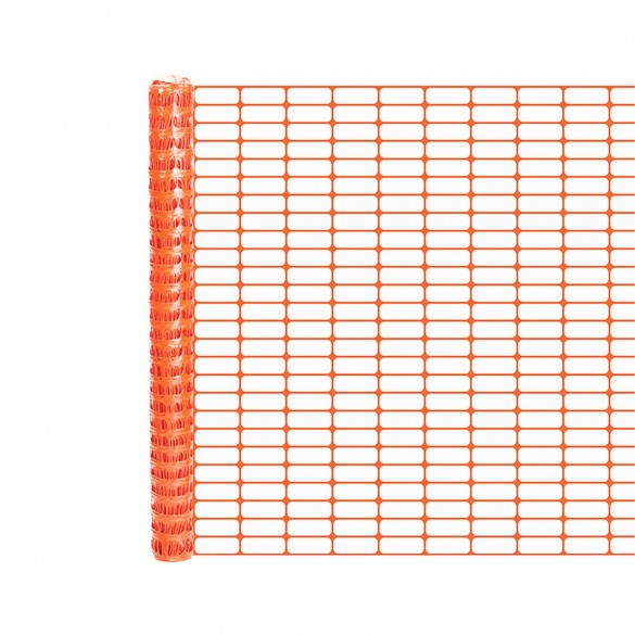 Resinet OL1648100 Lightweight Crowd Control Fence 4' x 100' Roll - Orange