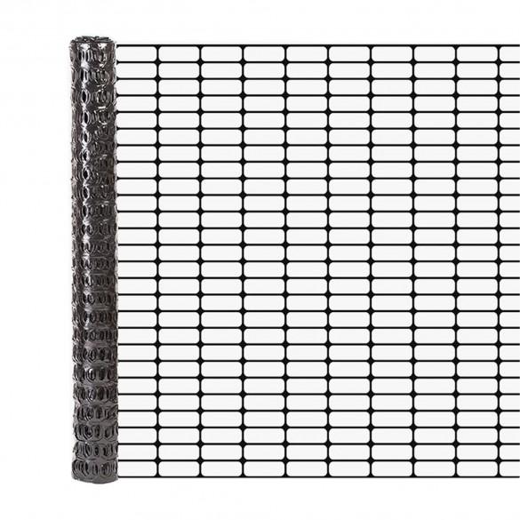 Resinet OL3048100 Lightweight Flat Oriented Barrier Fence 4' x 100' - Black