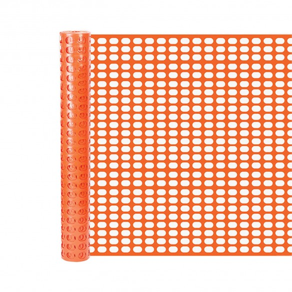 Resinet SF5060100 Heavy Duty Airport Snow Control Fence 5' x 100' - Yellow (Orange Shown As Example)