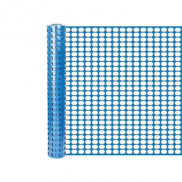 Resinet SL2148100 Oriented Flat Mesh Barrier Fence 4' x 100' - Blue