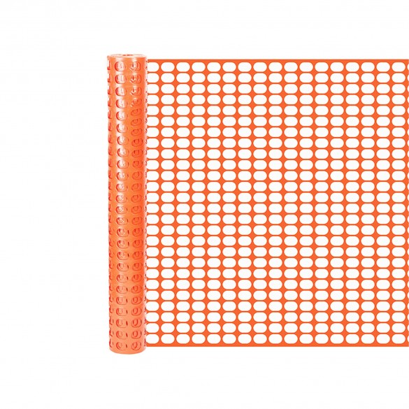Resinet SL2148100 Oriented Flat Mesh Barrier Fence 4' x 100' - Orange