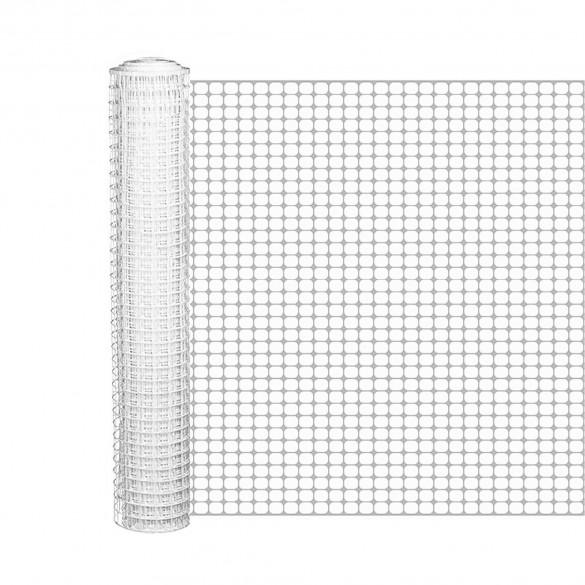Resinet SM407250 Mesh Barrier Fence 6' x 50' Roll - White