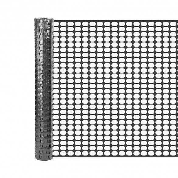 Resinet SM407250 Mesh Barrier Fence 6' x 50' Roll - Black