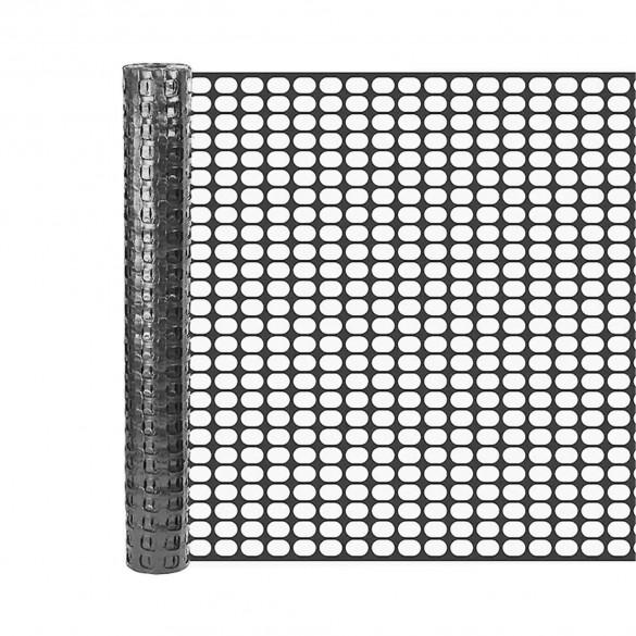 Resinet SLM404850 Square Mesh Barrier Fence 4' x 50' Roll - Black