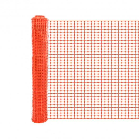 Resinet SLMUT4850 Economy Square Mesh Barrier Fence 4' x 50' Roll - Orange