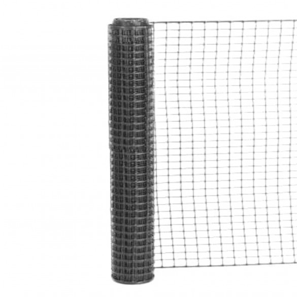 Resinet SLM4048100 - Heavy Duty Square Mesh Access Control Barrier Fence (4' x 100' Roll) - Black