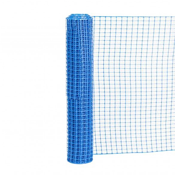 Resinet SLM4048100 Square Mesh Barrier Fence 4' x 100' Roll - Blue