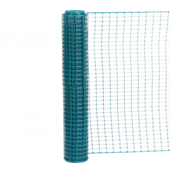 Resinet SLM4548100 - Standard Square Mesh Construction Barrier Fence (4' x 100' Roll) - Green