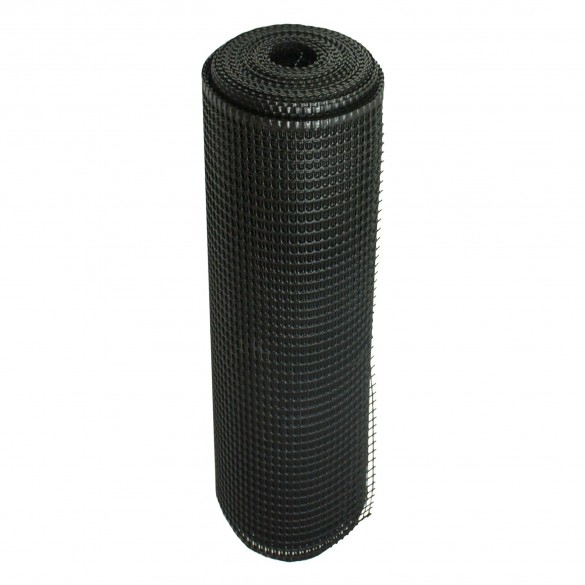"Resinet SM2048100 Rigid Utility Multi-Purpose 0.50"" Square Mesh Fence 4' x 100' Bulk Roll - Black"