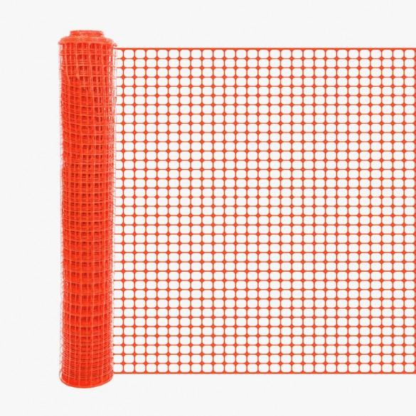 Resinet SLM4048100 Square Mesh Barrier Fence 4' x 100' Roll (Orange)