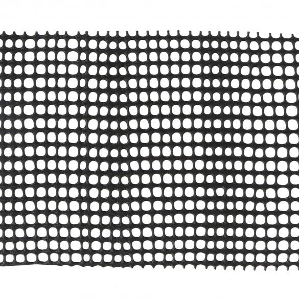 """Resinet SM1548100 Rigid Utility Multi-Purpose 0.25"""" Square Mesh Fence 4' x 100' Roll - Black"""