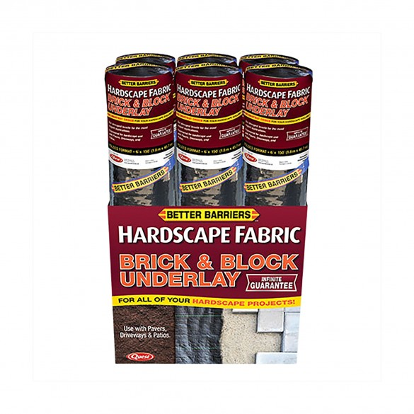 Quest Brick & Block Underlay Woven Hardscape Folded Fabric 6' x 50' - WBP2006150
