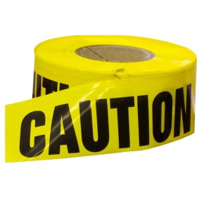 Yellow Caution Economy Caution Tape 1000' Roll 4 Mil Thick