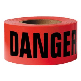Red Danger Caution Tape 1000' Roll 1.5 Mil Thick