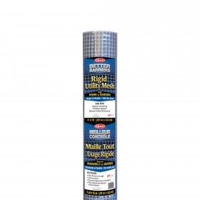 """Resinet HC315 - Rigid Utility Multi-Purpose Fence - 0.50"""" x 0.50"""" Sq. Mesh (3' x 15' Roll) - Silver"""