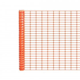 Resinet OL1648100 - Oriented Oval Mesh Construction Barrier Fence (4' x 100' Roll) - Orange