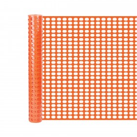 Resinet OSF5048100 - Lightweight Oriented Oval Mesh Snow Control Fence (4' x 100' Roll) - Orange