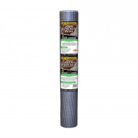"Resinet PN25 - Plastic Poultry Garden Fence Netting - 0.50"" x 0.50"" Sq. Mesh (2' x 50' Roll) - Silver"