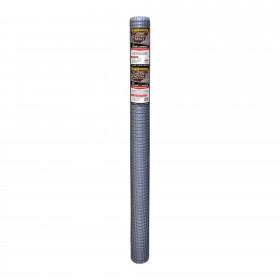 "Resinet PN48 - Plastic Poultry Garden Fence Netting - 0.50"" x 0.50"" Sq. Mesh (4' x 50' Roll) - Silver"