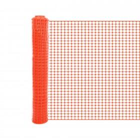 Resinet SLM407250 - Heavy Duty Square Mesh Crowd Control Fence (6' x 50' Roll) - Orange