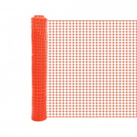 Resinet SLMUT4850 Economy Square Mesh Barrier Fence 4' x 50' Roll - Orange