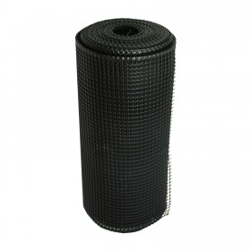 "Resinet SM2024100 - Rigid Utility Multi-Purpose Fence - 0.50"" x 0.50"" Sq. Mesh (2' x 100' Bulk Roll)  - Black"