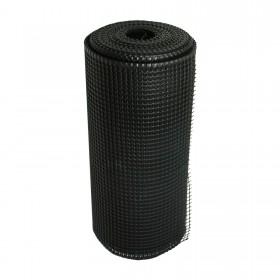 """Resinet SM2024100 - Rigid Utility Multi-Purpose Fence - 0.50"""" x 0.50"""" Sq. Mesh (2' x 100' Bulk Roll)  - Black"""