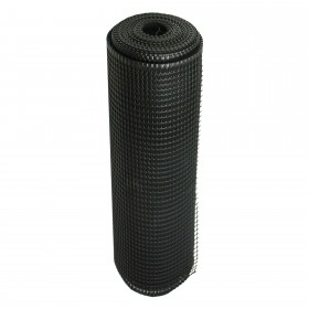 "Resinet SM2048100 - Rigid Utility Multi-Purpose Fence - 0.50"" x 0.50"" Sq. Mesh (4' x 100' Bulk Roll)  - Black"