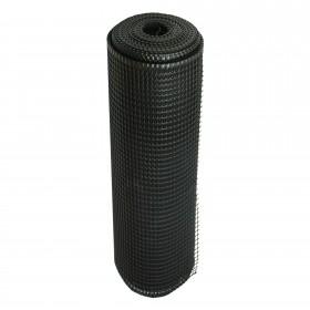 """Resinet SM2048100 - Rigid Utility Multi-Purpose Fence - 0.50"""" x 0.50"""" Sq. Mesh (4' x 100' Bulk Roll)  - Black"""