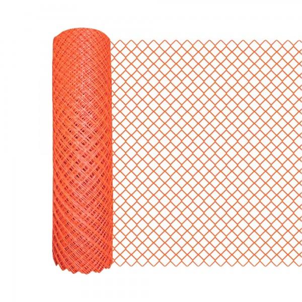 Resinet DM504O-18 Diamond Mesh Heavy-Duty Yard Barrier Fence - 4' x 50' Roll (Orange)
