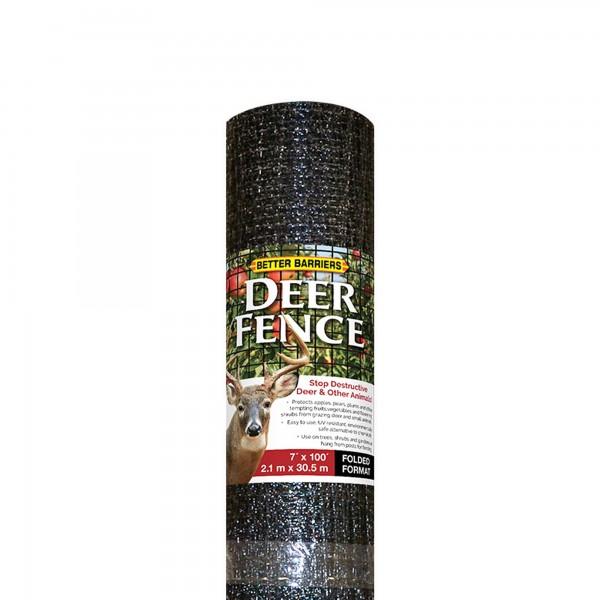 "Resinet HDF7100 - 7' x 100' Biaxially Oriented Mesh Deer Fence - 3/4"" x 1/2"" Mesh (Black)"