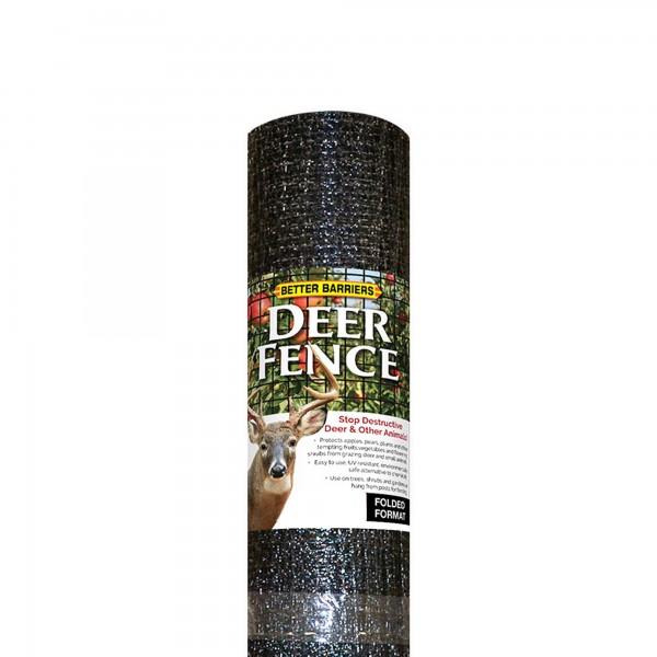 "Resinet HDF725 - 7' x 25' Biaxially Oriented Mesh Deer Fence - 3/4"" x 1/2"" Mesh (Black)"