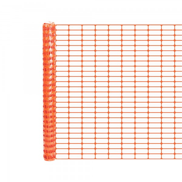 Resinet OL1648100 Lightweight Crowd Control Fence 4' x 100' Roll - Orange