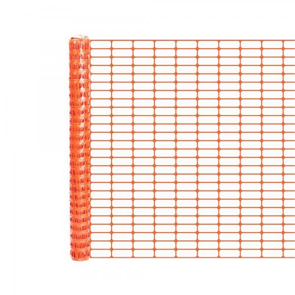 Resinet OL1648300 Lightweight Crowd Control Fence 4' x 300' Roll - Orange