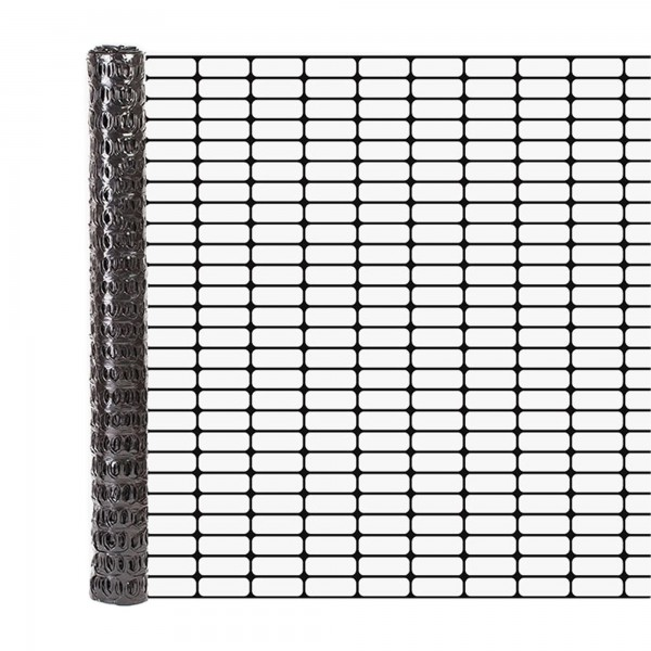 Resinet OL3048100 Lightweight Flat Oriented Barrier Fence 4' x 100' - Black