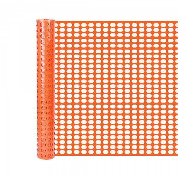 Resinet OSF6048100 Lightweight Oriented Snow Fence Orange 4' x 100' - Orange