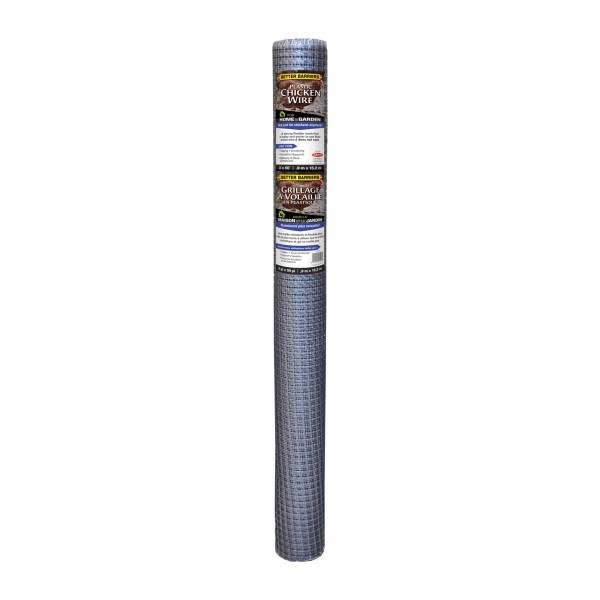 """Resinet PN36 - 3' x 50' Plastic Chicken Wire Fence - 1/2"""" x 1/2"""" Mesh (Silver)"""