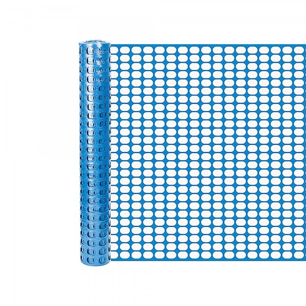 Resinet SL2148100 Oriented Flat Mesh Barrier Fence 4' x 100' - Blue