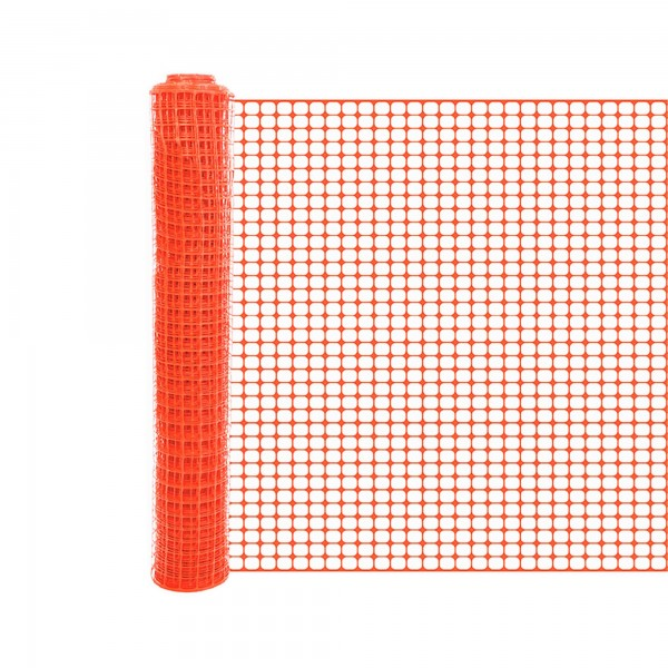 Resinet SLM407250 6' Crowd Control Fence 6' x 50' Roll - Black (Orange Shown As Example)