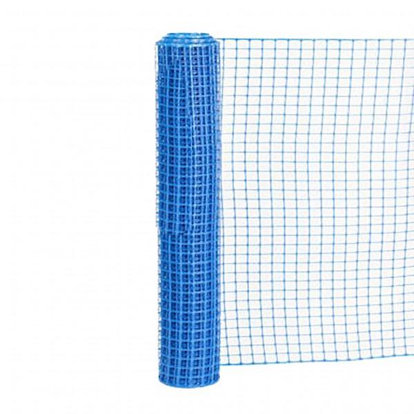 Resinet SLM4048100 Square Mesh Barrier Fence 4' x 100' Roll - Blue