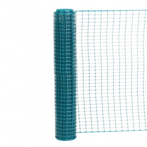 Resinet SLM4048100 Square Mesh Barrier Fence 4' x 100' Roll - Green