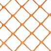 Resinet DM504B-18 Diamond Mesh Heavy-Duty Barrier Fence - 4' x 50' Roll (Orange Shown As Example)