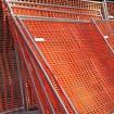 Resinet SF504850 Heavy Duty Snow Control Fence 4' x 50' Roll - Black (Orange Installation Shown As Example)