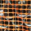 Resinet SL2148100 Oriented Flat Mesh Barrier Fence 4' x 100' - Blue (Orange Installation Shown As Example)
