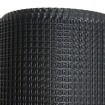 "Resinet SM2024100 Rigid Utility Multi-Purpose 0.50"" Square Mesh Fence 2' x 100' Bulk Roll - Black"